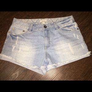 Forever 21 Cutoff Jean Shorts Sz 30